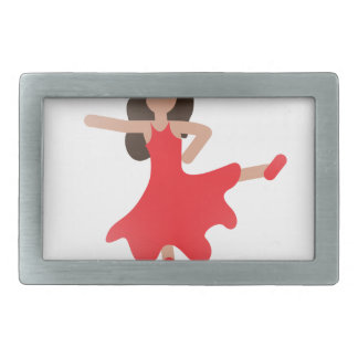 dancer emoji rectangular belt buckle
