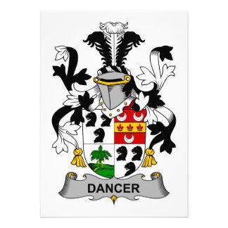 Dancer Family Crest Personalized Invite