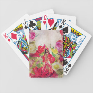 Dancer Flower Garden Watercolor Bicycle Playing Cards