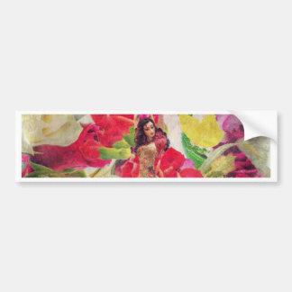 Dancer Flower Garden Watercolor Bumper Sticker