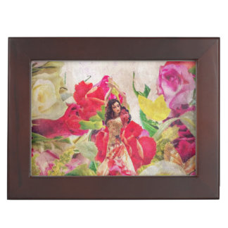 Dancer Flower Garden Watercolor Keepsake Box