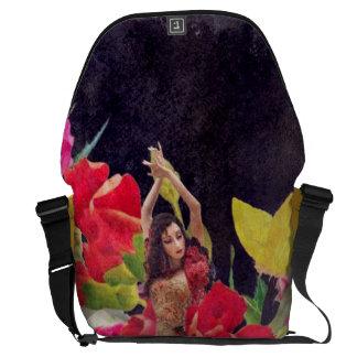 Dancer Flowers Watercolor Courier Bag