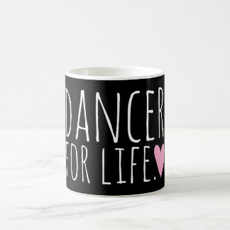 Dancer For Life Black with Heart Coffee Mug