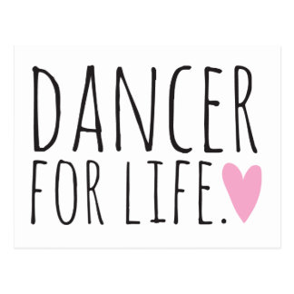 Dancer For Life with Heart Postcard