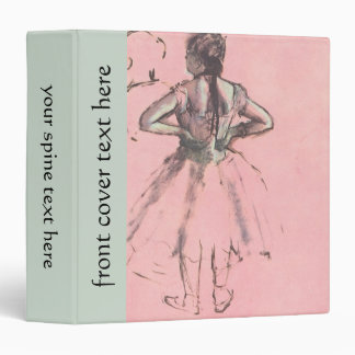 Dancer from the Back by Edgar Degas Vintage Ballet Binder