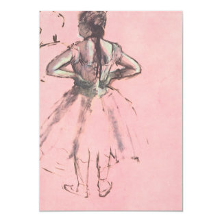 Dancer from the Back by Edgar Degas Vintage Ballet Card