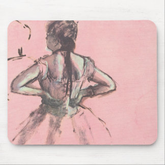 Dancer from the Back by Edgar Degas Vintage Ballet Mouse Pad