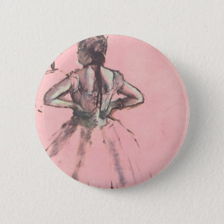 Dancer from the Back by Edgar Degas Vintage Ballet Pinback Button