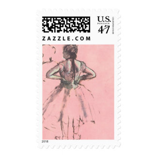 Dancer from the Back by Edgar Degas Vintage Ballet Postage