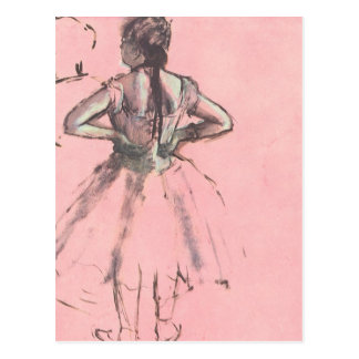 Dancer from the Back by Edgar Degas Vintage Ballet Postcard