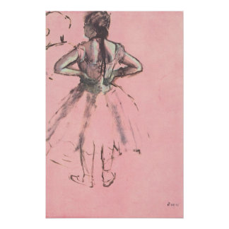 Dancer from the Back by Edgar Degas Vintage Ballet Poster