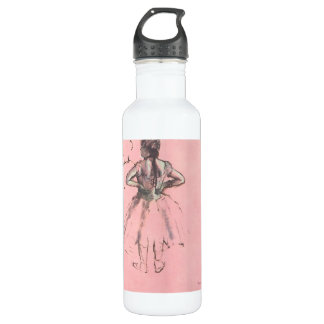 Dancer from the Back by Edgar Degas Vintage Ballet Stainless Steel Water Bottle