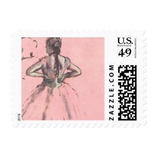 Dancer from the Back by Edgar Degas Vintage Ballet Stamp