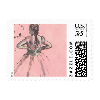 Dancer from the Back by Edgar Degas Vintage Ballet Stamps
