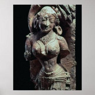 Dancer, from the Sun Temple of Kanara, Indian, 13t Poster