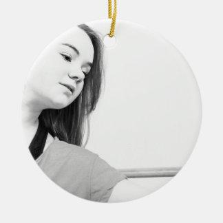 dancer girl ceramic ornament