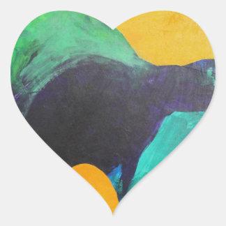 Dancer. Heart Sticker