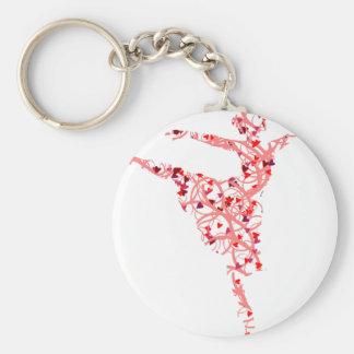 dancer hearts keychain