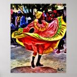 DANCER IN CUBAN SQUARE PRINT