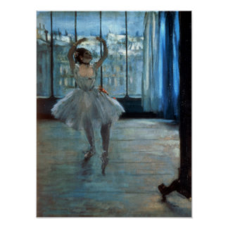 Dancer in Front of a Window  c.1874-77 Poster