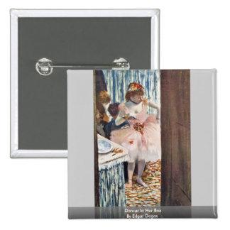 Dancer In Her Box By Edgar Degas Buttons