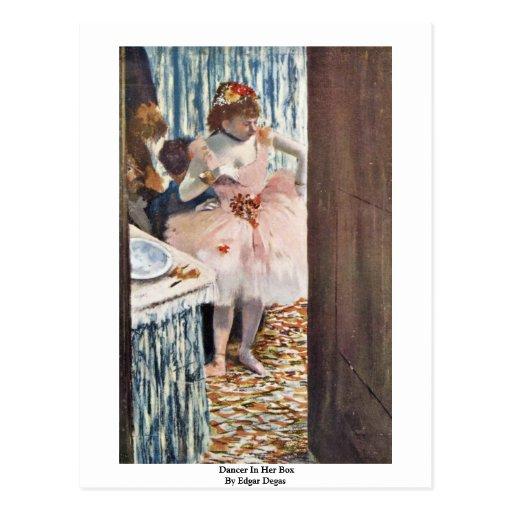 Dancer In Her Box By Edgar Degas Postcards