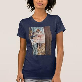 Dancer In Her Box By Edgar Degas T-shirts