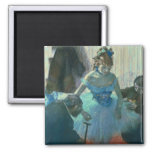 Dancer in her dressing room 2 inch square magnet