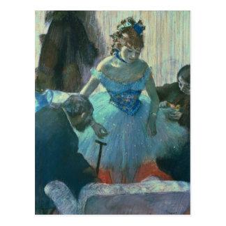 Dancer in her dressing room postcard