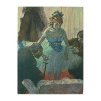 Dancer in her dressing room wood print