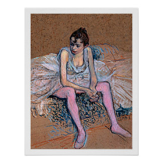 Dancer in Pink Tights Poster