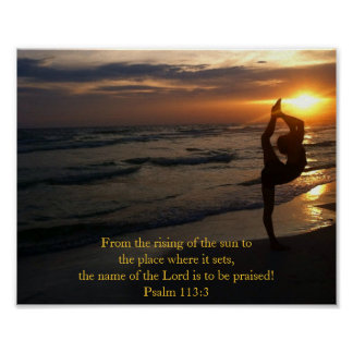 Dancer in Silhouette on the Beach at Sunset Poster