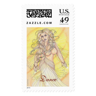 Dancer in the Light Postage Stamps