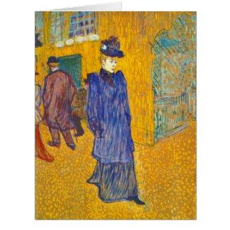 Dancer Jane Avril 1892 Card