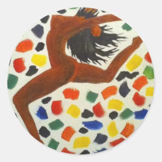 Dancer.jpg Classic Round Sticker