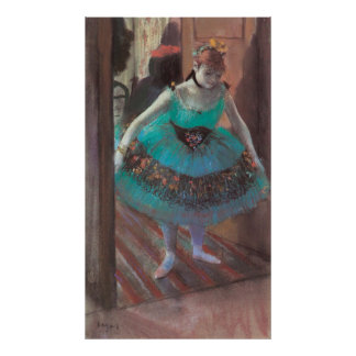 Dancer Leaving Her Dressing Room by Edgar Degas Poster