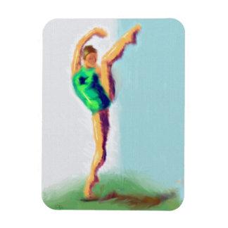 Dancer Leg Raised Art Magnet