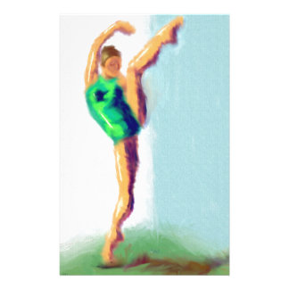 Dancer Leg Raised Art Stationery