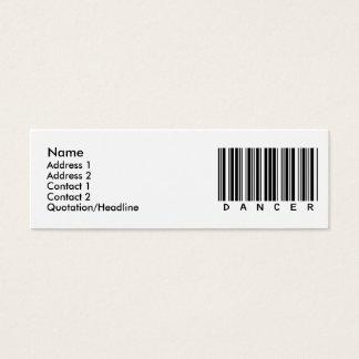 Dancer Mini Business Card