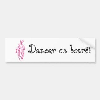 Dancer on Board Car Bumper Sticker