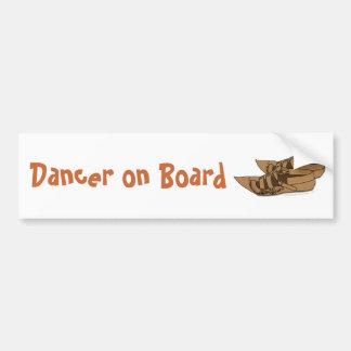 Dancer on Board Folk Dancing Balkan Opanke Shoes Bumper Sticker