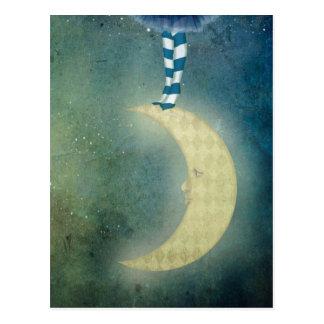 dancer one the moon postcard