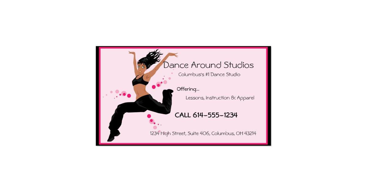 Dancer or dance studio business cards zazzle for Dance business cards