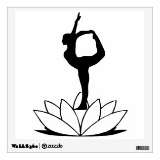 Dancer Pose on Lotus - Yoga Wall Decal