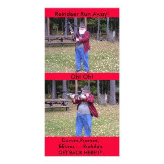 Dancer,Prancer,Blitzen........Rudolph Personalized Photo Card