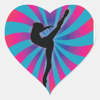 Dancer Radial Rainbow Heart Sticker