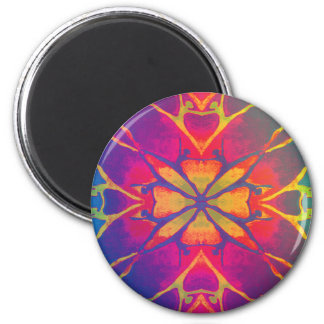 Dancer (Rainbow - Psychedelic) 2 Inch Round Magnet
