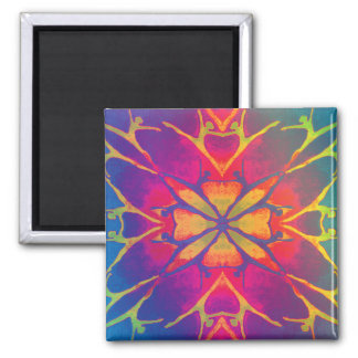 Dancer (Rainbow - Psychedelic) 2 Inch Square Magnet