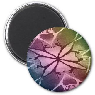 Dancer (Rainbow - Twist) 2 Inch Round Magnet