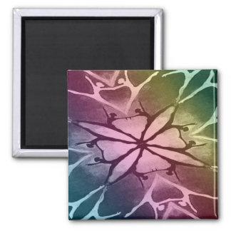 Dancer (Rainbow - Twist) 2 Inch Square Magnet
